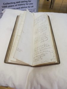 Winsford Early Tonnage Book 1753-55 detailing all cargo carried on the Weaver.