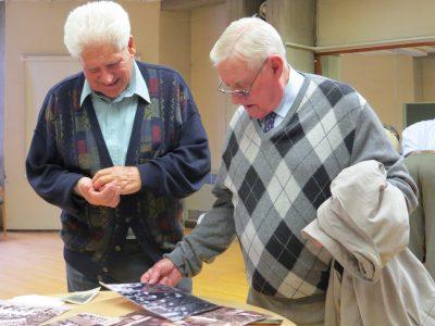 ohn Johnson, fomer Winsford Salt Miner and Walter Fowles, former ICI employee